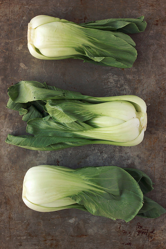 Baby Bok Choy with Lemon Garlic Cashew Cream